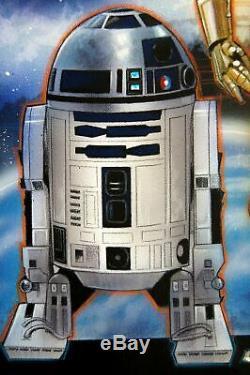 Walt Disney Scott Westmoreland Star Wars C-3po R2d2 1997 Original Création Rare