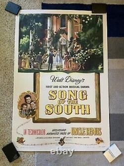 Walt Disney Song Of The South Original Linen Back Splash Mountain Movie Affiche