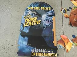 Walt Disney The Great Mouse Detective Vintage Film Standee Affichage Publicitaire