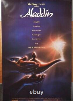Walt Disney's Aladdin 1992 Advance Teaser Ds 2 Sided 27x40 Affiche De Cinéma Américaine