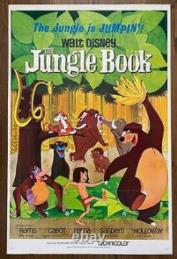 Walt Disney's The Jungle Book (1967) Tri-folded One-sht Rudyard Kipling's Mowgli