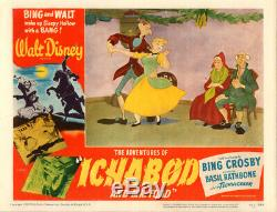 Walt Disney'sthe Aventures De Ichabod & Mister Toad Carte Lobby D'origine # 7 1949