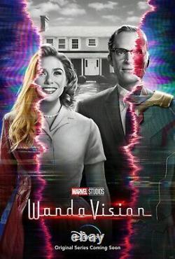 Wandavision Teaser Affiche Une Feuille 27x40 Double Face Ds Officiel Marvel Disney