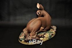 Wdcc Collection Walt Disney Classics My Little Bambi Et Boîte À Goupilles Coa Rare