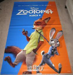 Zootopia Et Les Meilleures Heures De Disney Bannière De Film Double Face En Vinyle Géant De 8 'x 5'